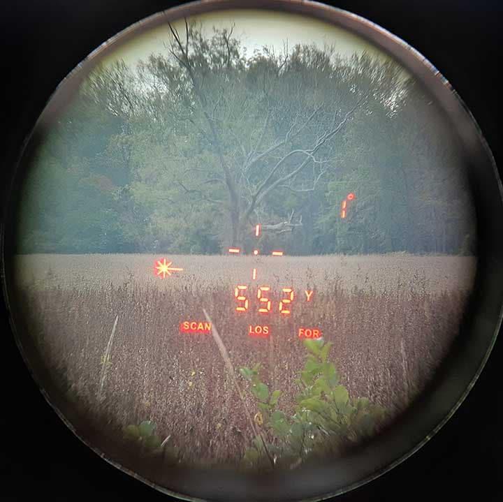 View through RF.1 rangefinder